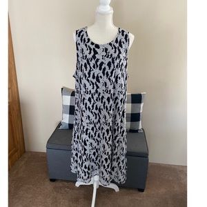 Lane Bryant Black and White Lace Dress Size 22/24